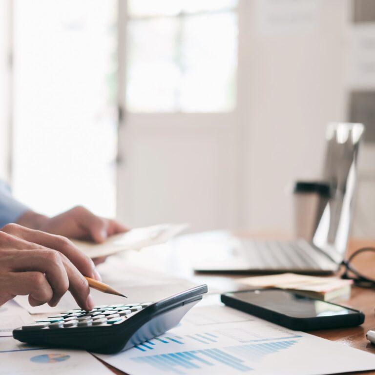 accountant analyzes the company budget