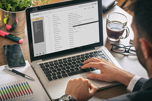 email manager handling email management duties