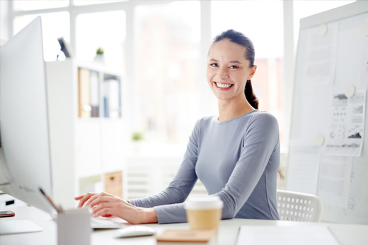 administrative assistant working on admin tasks